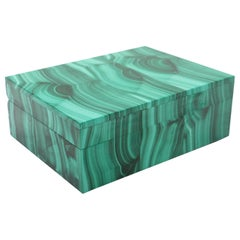 Malachite Semi-Precious Stone Box