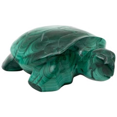 Malachite Turtle Carving