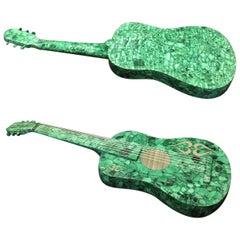 Malachite Veneered Musical Guitar