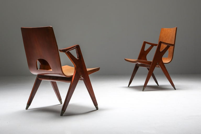 Malatesta and Mason Armchair by Ico Parisi In Good Condition For Sale In Antwerp, BE