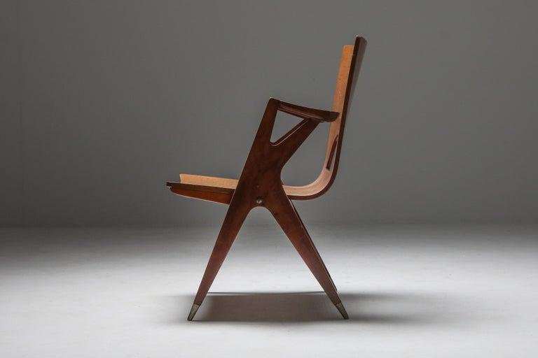 Mid-Century Modern Malatesta and Mason Armchair by Ico Parisi For Sale