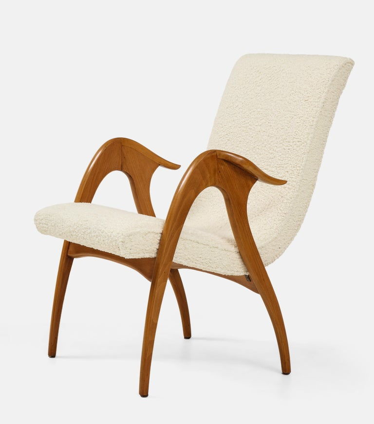 Fabric Malatesta and Mason Pair of Sculptural Armchairs For Sale