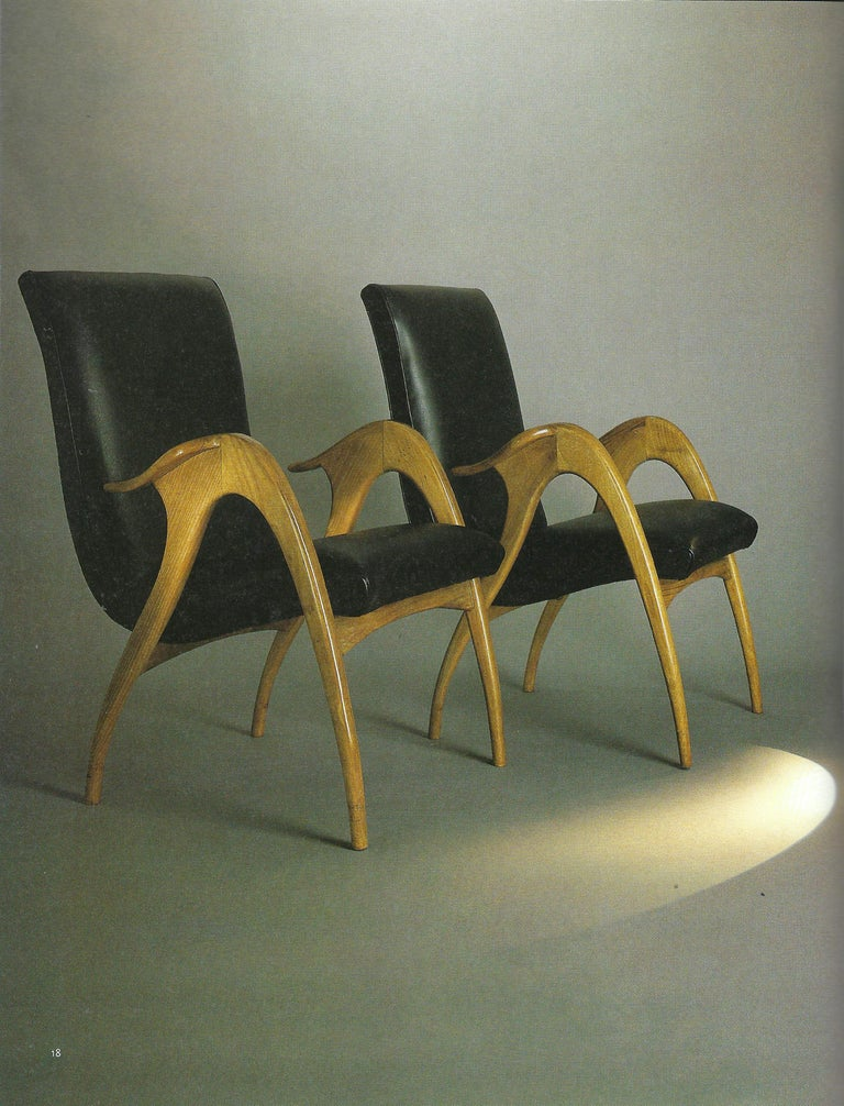 Malatesta and Mason Pair of Sculptural Armchairs For Sale 4