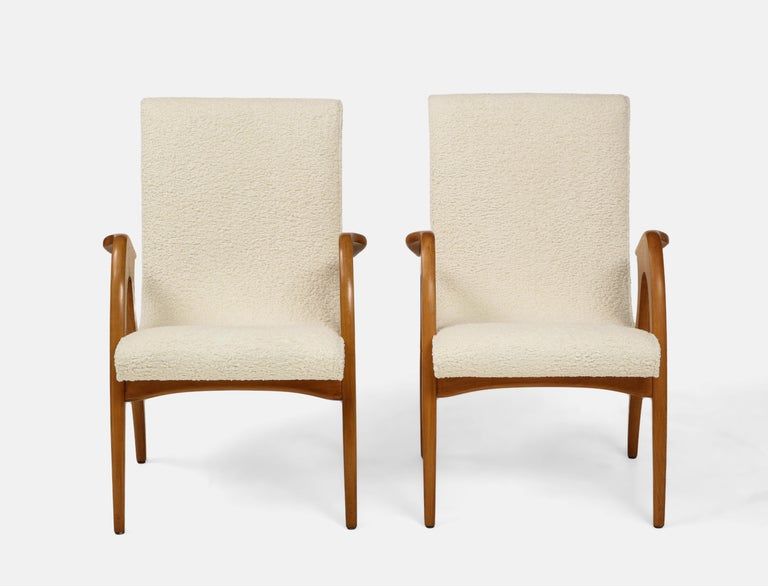 Mid-Century Modern Malatesta and Mason Pair of Sculptural Armchairs For Sale