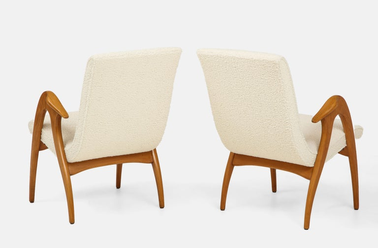 Mid-20th Century Malatesta and Mason Pair of Sculptural Armchairs For Sale