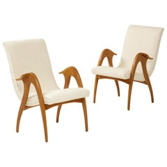 Malatesta and Mason Pair of Sculptural Armchairs