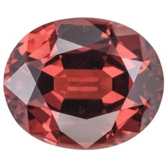 Malaya Garnet Ring Gem 7.57 Carat Oval