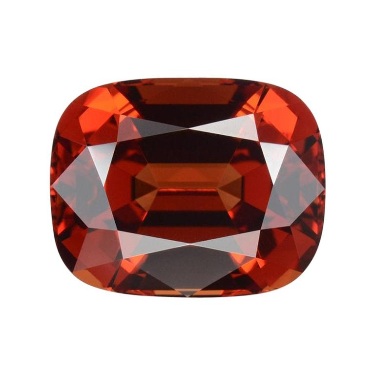 Malaya Garnet Ring Gem 10.15 Carat Cushion Loose Gemstone