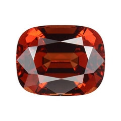 Malaya Garnet Ring Gem 10.15 Carat Cushion Loose Gemstone
