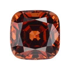Malaya Garnet Ring Gem 4.02 Carat Cushion Loose Gemstone