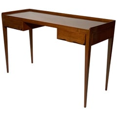 Malchiodi Midcentury Italian Center Writing Desk Two Drawers