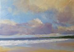Filey, Malcolm Ludvigsen, Seascape Art, Original Painting, Affordable Art