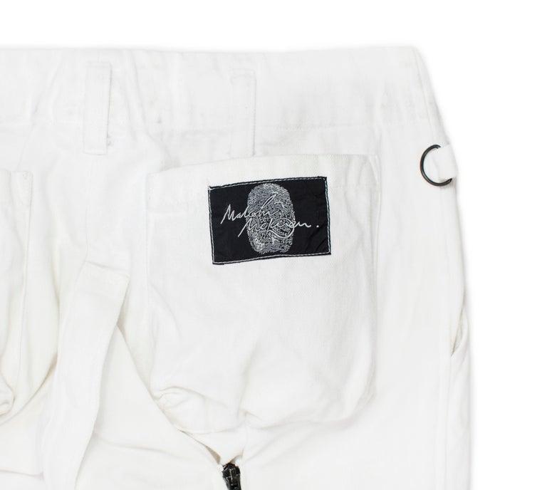 Gray Malcolm McLaren '90s Bondage Pants For Sale