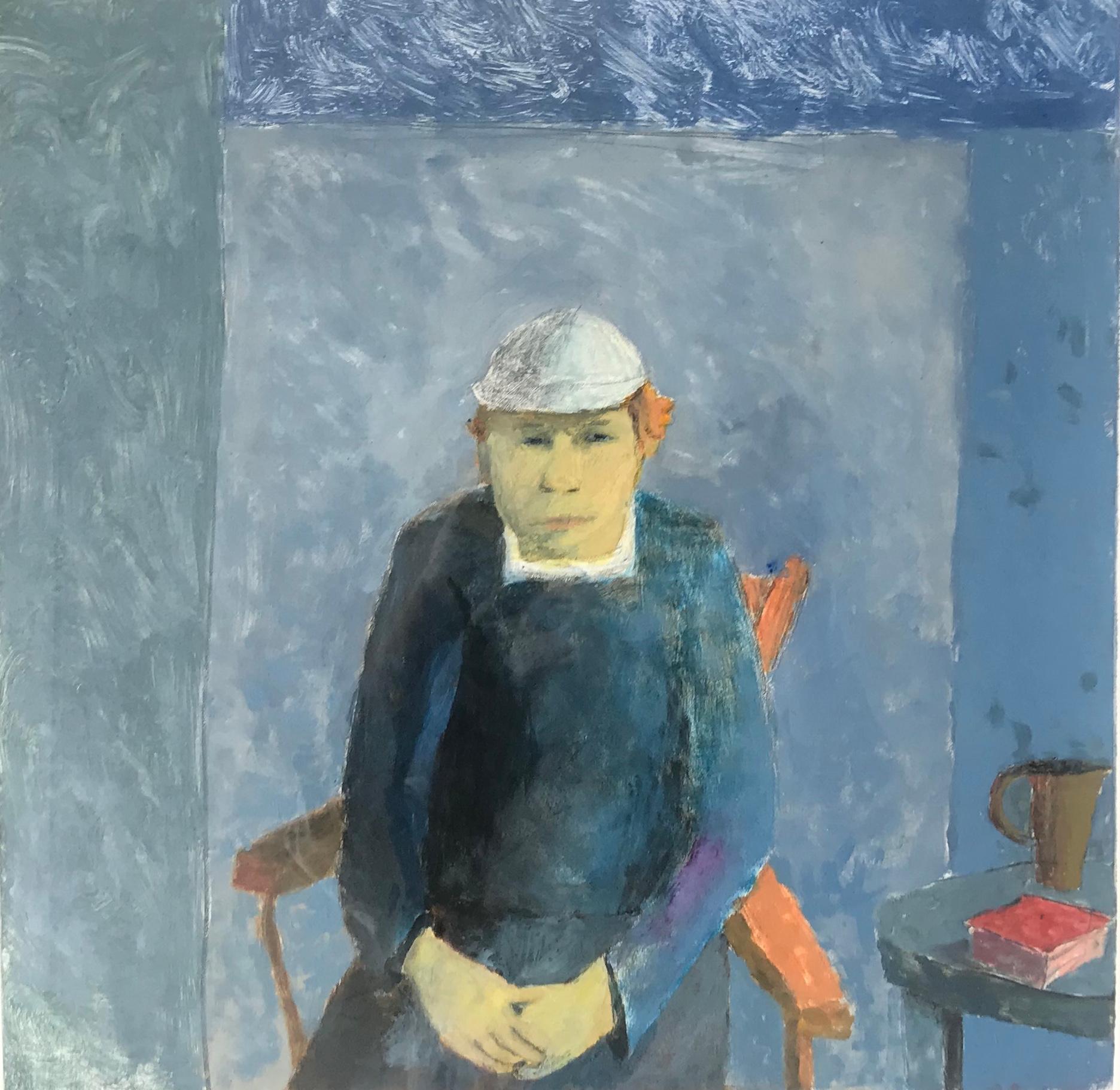 Rogers' Great Escape, portrait of man wearing hat, blue