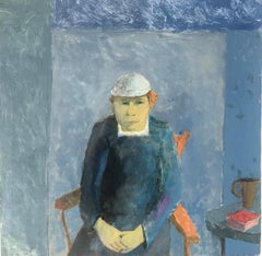 Rogers' Great Escape, portrait of man wearing hat, blue