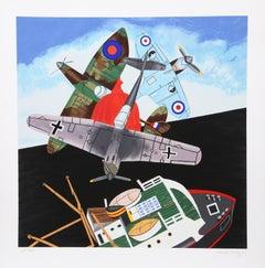 Battle of Britain, Pop Art Silkscreen by Malcolm Morley