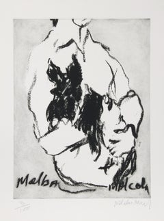 """""""Melba, Malcolm"""" Etching by Malcolm Morley"""