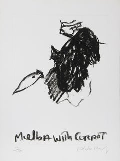 """""""Melba with Carrot"""" Etching by Malcolm Morley"""