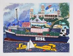 Pop Art Silkscreen by Malcolm Morley