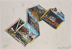 """""""Postcards from Miami"""", 1973, Lithograph by Malcolm Morley"""