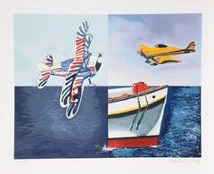 Quartet, Pop Art Silkscreen by Malcolm Morley