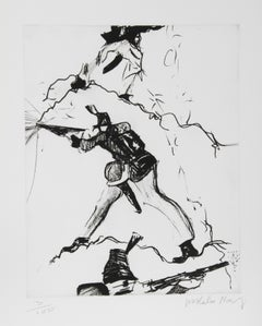 """Soldier"" Etching by Malcolm Morley"