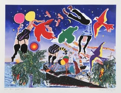 Tankerton Bay, Pop Art Silkscreen by Malcolm Morley