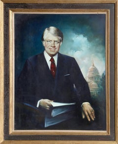 Jimmy Carter, Oil Painting by Malcolm Parle