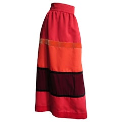 Malcolm Starr Color Block Maxi Skirt 1970s