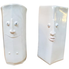 Male & Female Face Vases