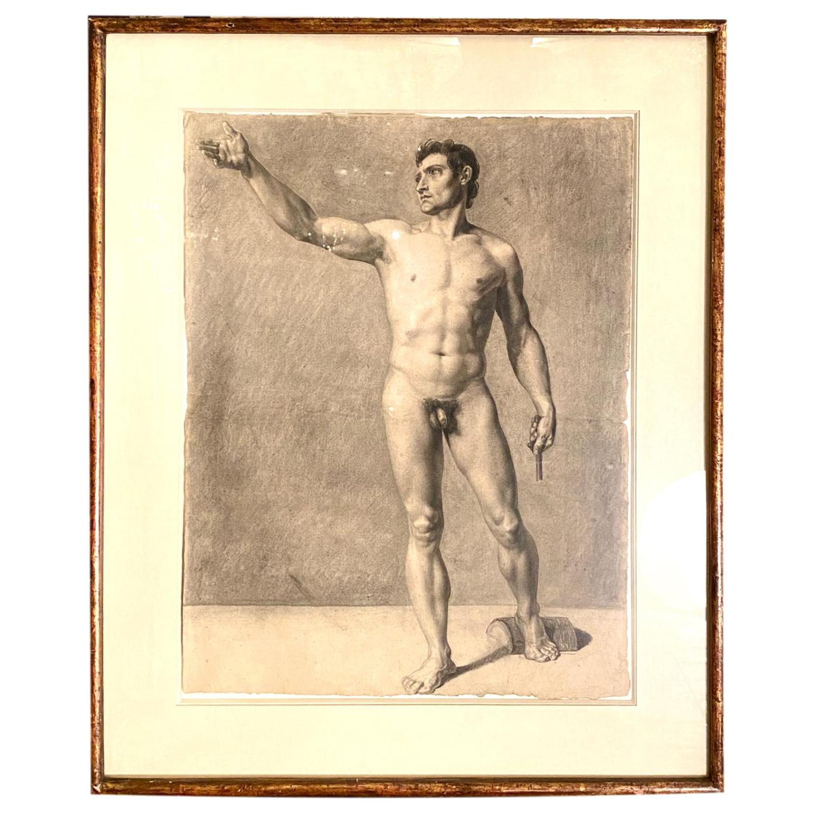 Male Nude Charcoal Sketch