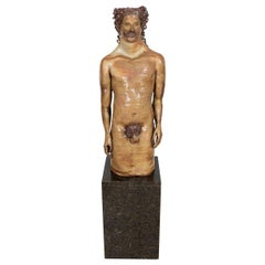 Male Nude Terracotta Sculpture