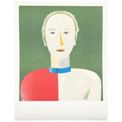"""Malevich """"Portrait of a Female"""" Lithography"""