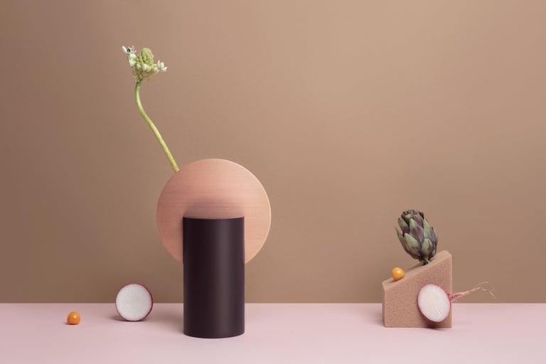 Malevich vase by NOOM Dimensions: H 13 cm x W 24 cm x D 24 cm Materials: Burned steel, painted steel  NOOM is a young rapidly growing design company from Ukraine that produces lighting, decor and home accessories.  We create timeless design