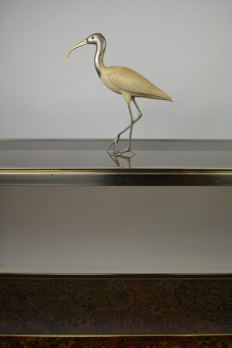 Ibis Bird Sculpture by Malevolti Italy, 1950s For Sale 4
