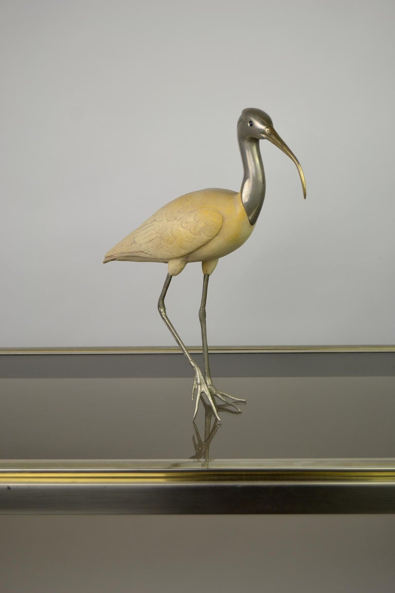 Ibis Bird Sculpture by Malevolti Italy, 1950s For Sale 5