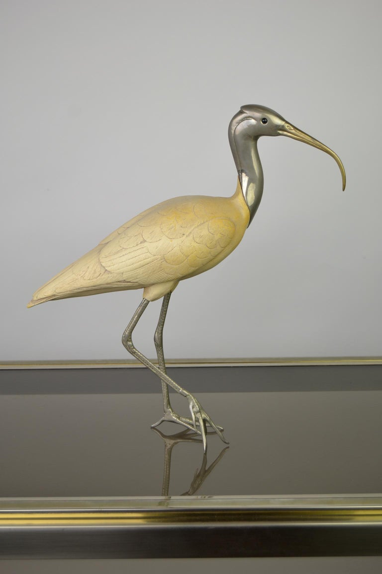 Ibis Bird Sculpture by Malevolti Italy, 1950s For Sale 8