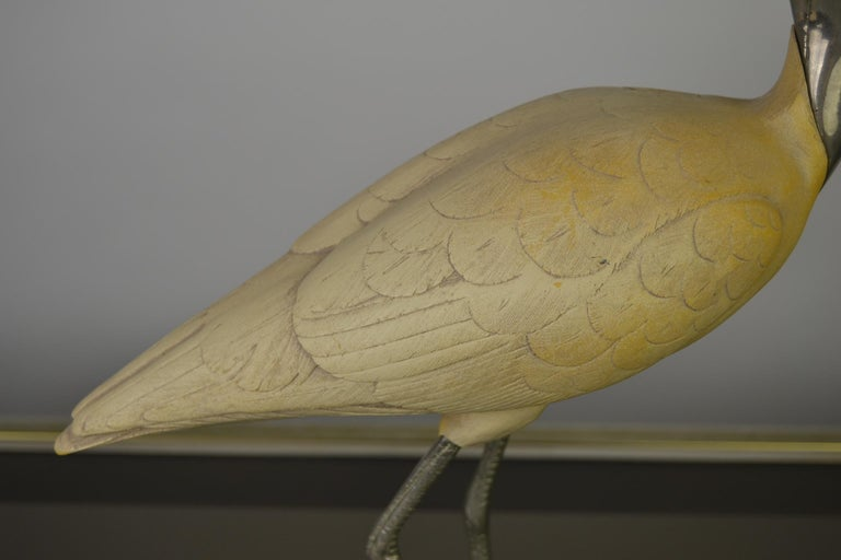 Hollywood Regency Ibis Bird Sculpture by Malevolti Italy, 1950s For Sale