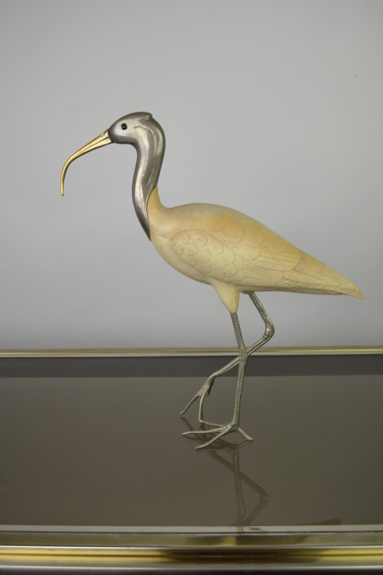 Ibis Bird Sculpture by Malevolti Italy, 1950s In Good Condition For Sale In Antwerp, BE