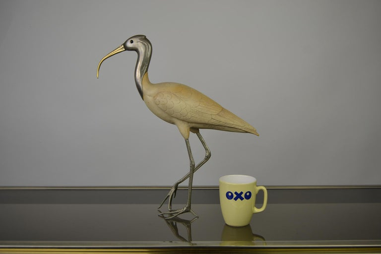 20th Century Ibis Bird Sculpture by Malevolti Italy, 1950s For Sale