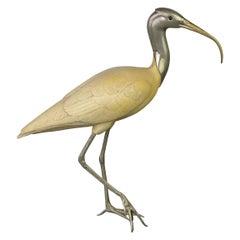 Malevolti Italy Ibis Bird Sculpture, 1950s