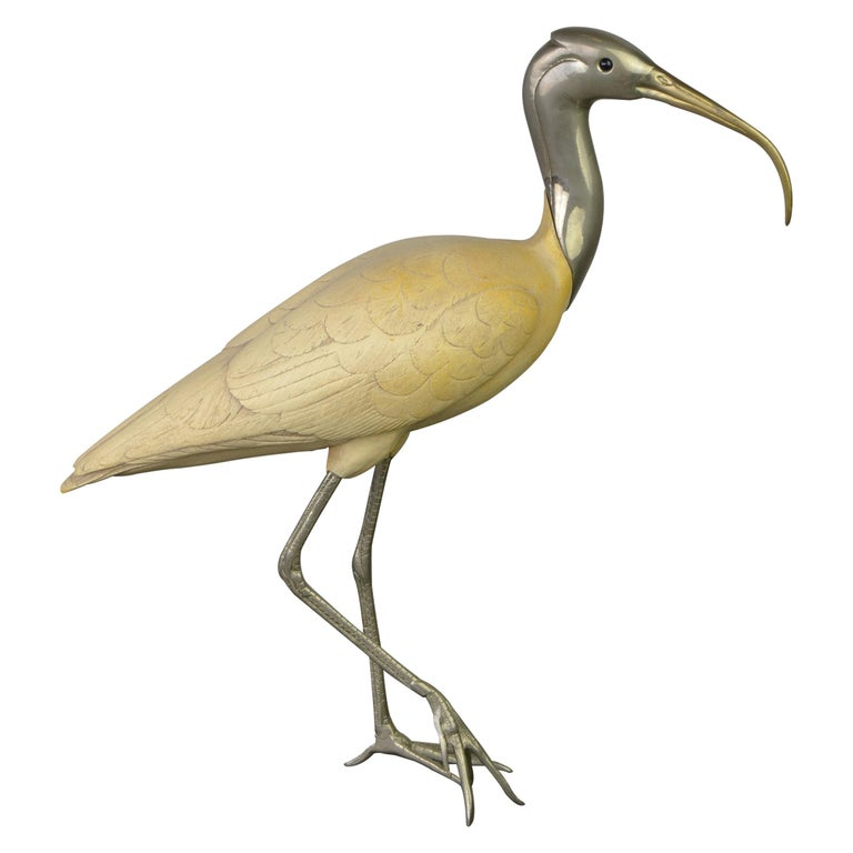 Ibis Bird Sculpture by Malevolti Italy, 1950s For Sale