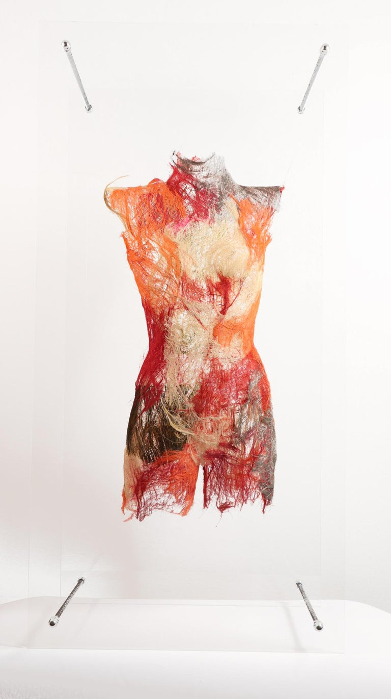 Contemporary Polish artist Malgorzata Jablonska's Body 3 sculpture is a female torso on a 1: 1 scale. It's close in meaning to a museum exhibit, reminiscent of the shape of ancient damaged sculptures, which due to their incompleteness (lack of body