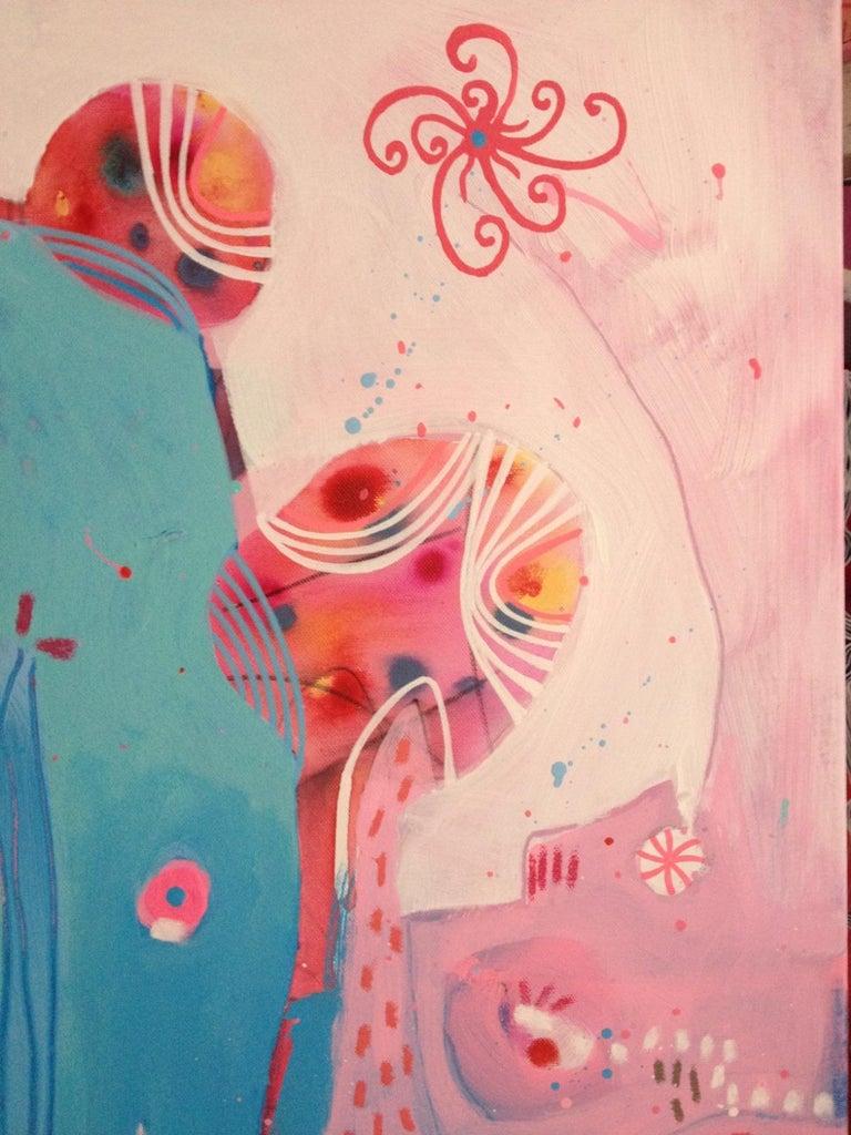 Deep See Water - Painting by Malgosia Kiernozycka