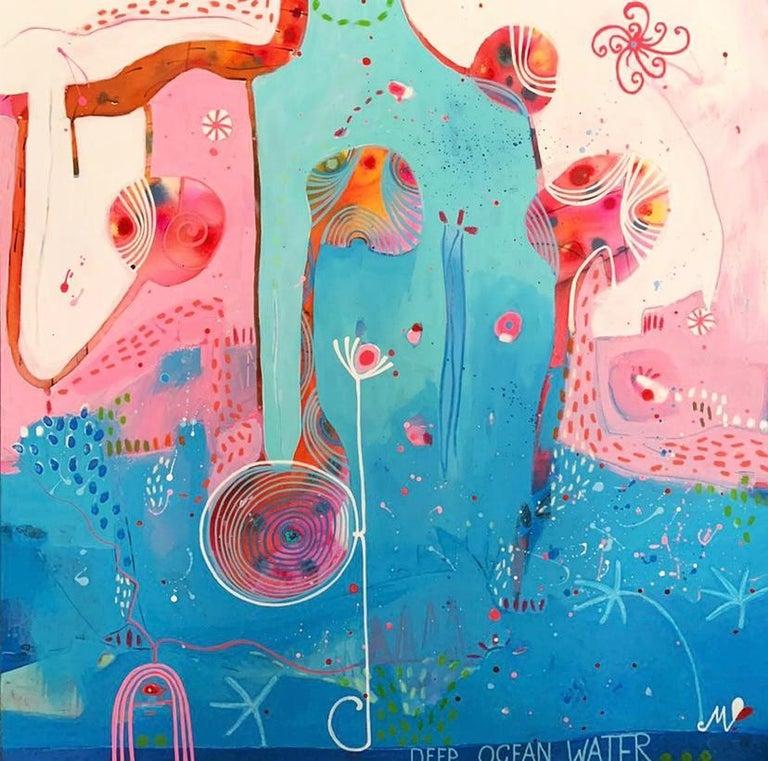 Malgosia Kiernozycka Abstract Painting - Deep See Water