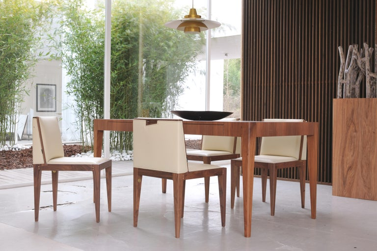 Brilliant Malibu Contemporary Dining Table In Ash Wood Or Canaletto Walnut Wood Download Free Architecture Designs Rallybritishbridgeorg