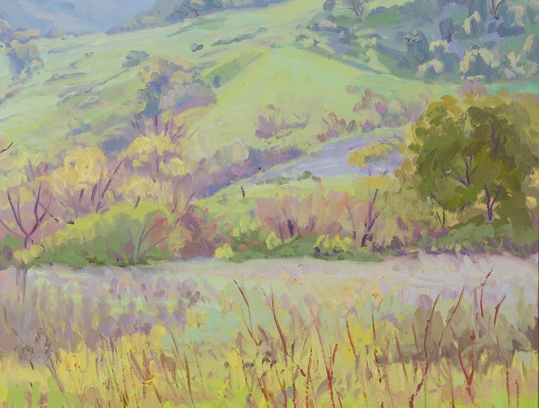 20th Century Impressionistic Landscape in Green by J.Alfonso Colocho For Sale