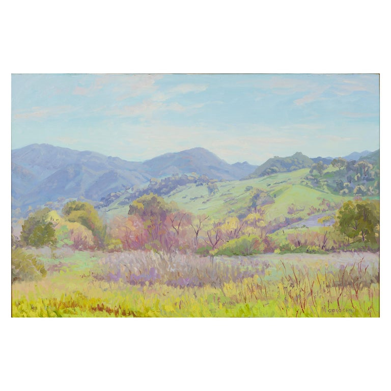 Impressionistic Landscape in Green by J.Alfonso Colocho For Sale