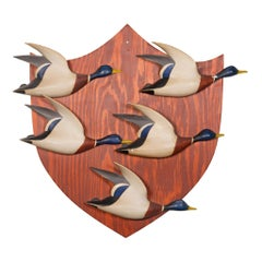 Mallard Drake Miniatures on Shield by John Lee Baldwin