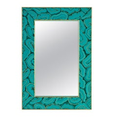 Mally Mirror in Green Malachite by CuratedKravet